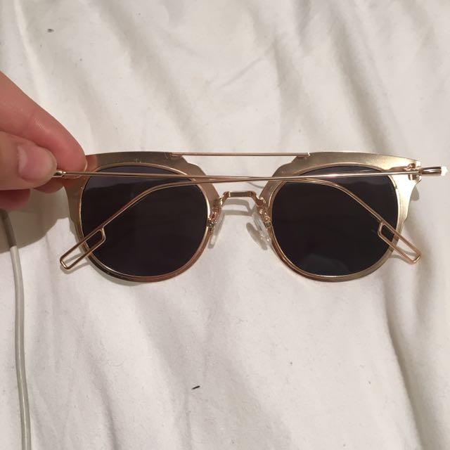 Matte Gold Sunglasses