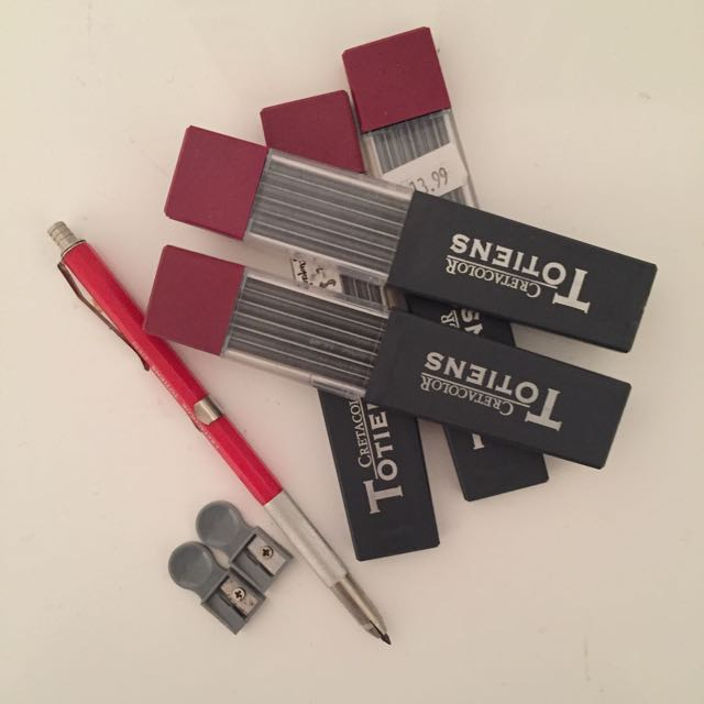Mechanical Pencil With Refills And Sharpeners