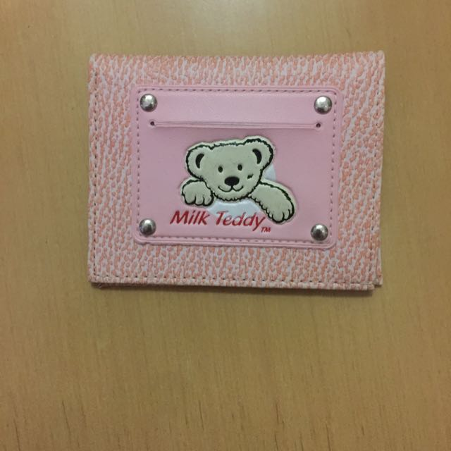 Milk Teddy Pink Wallet