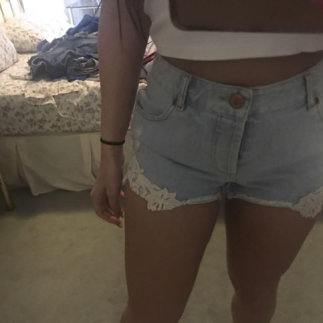Miss Denim High Waisted Shorts Size 10