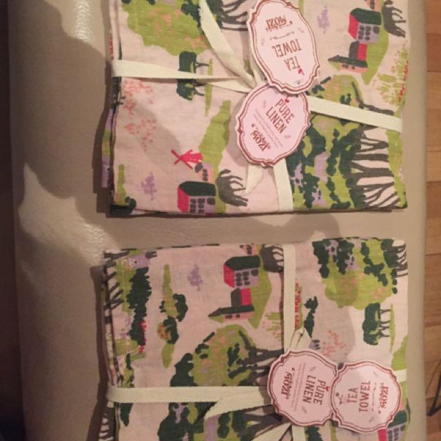 Mozi Pure Linen Tea Towels