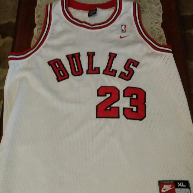 buy online 56515 b6338 Authentic Nike Michael Jordan Flight 8403 Home Rookie Jersey ...