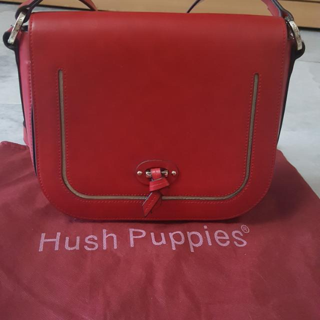 Original Hush Puppies Red Leather Sling Bag eb09e66289