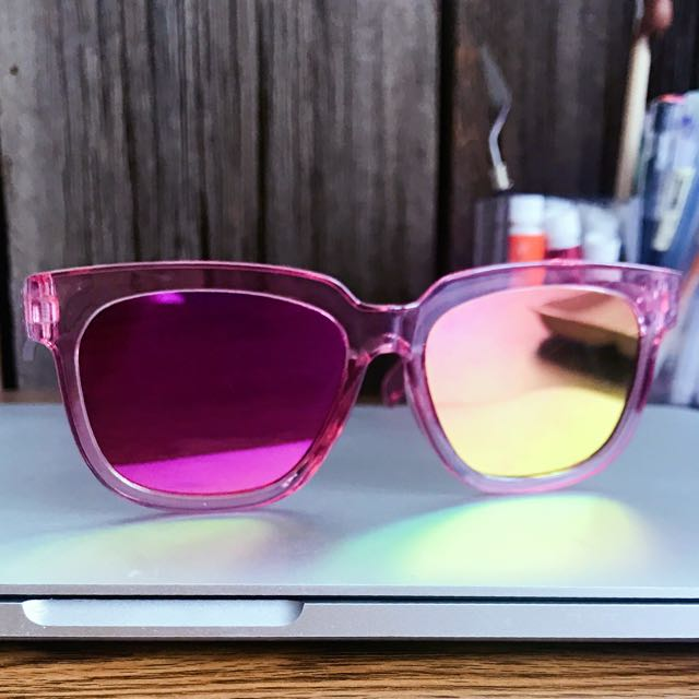 Pink Holographic Cat-Eye Sunglasses