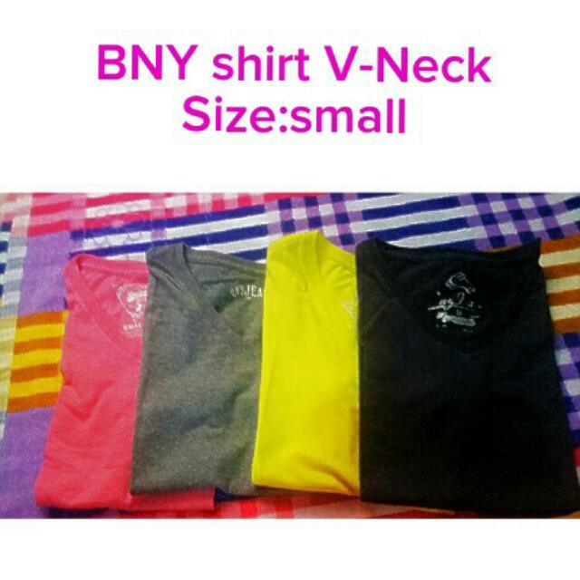 Plain Colored BNY V-Neck SHIRT