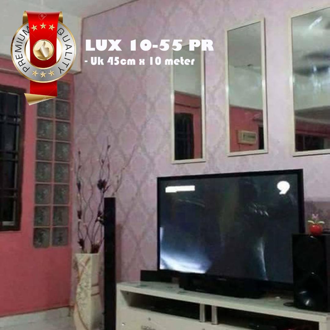(PREMIUM QUALITY) Luxurious Wallpaper LUX 10-55 PRB - Motif Damask Pink
