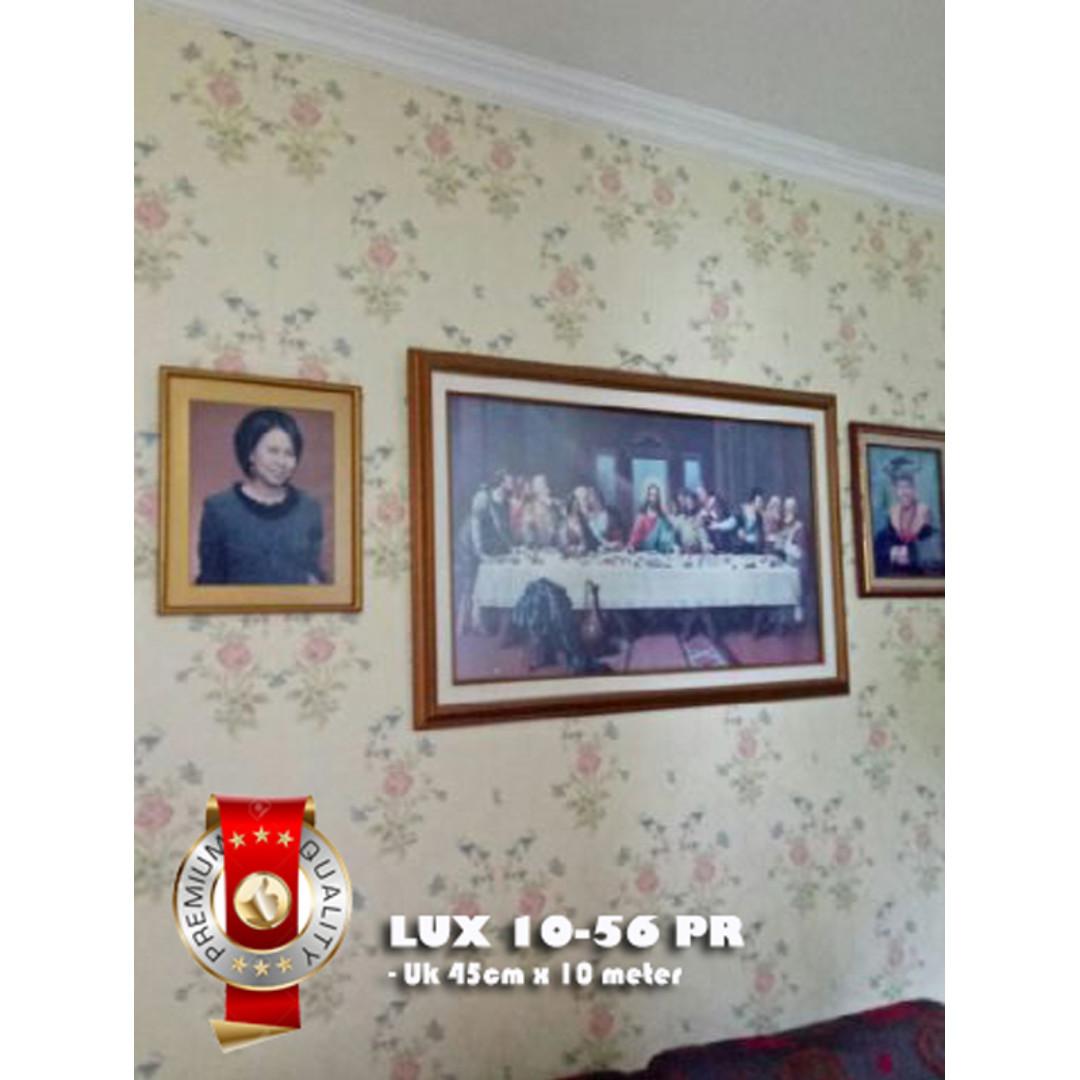 (PREMIUM QUALITY) Luxurious Wallpaper LUX 10-56 PRB - latar Broken White BUKAN krem