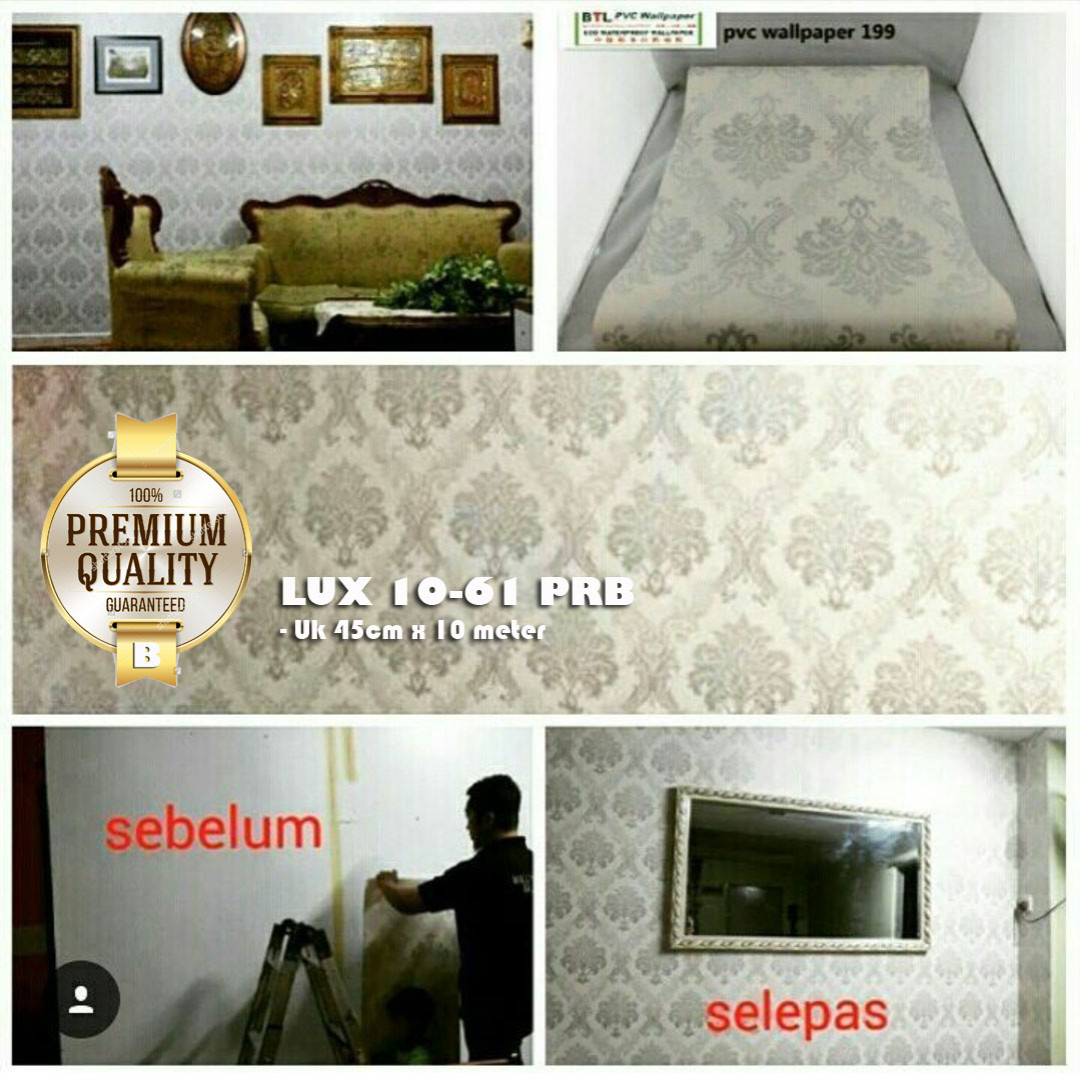 Premium Quality Luxurious Wallpaper Lux 10 61 Prb Perabotan Rumah 5 22 Sticker Di Carousell
