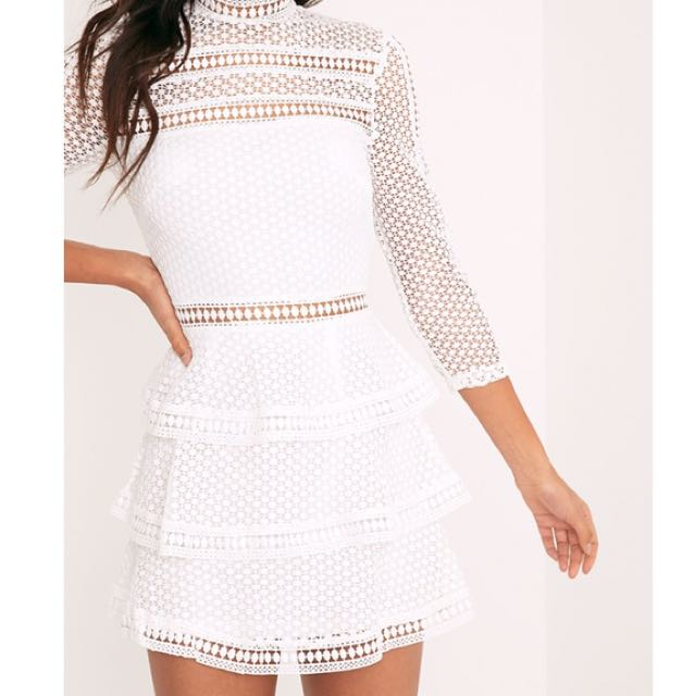 Pretty Little Thing | Lace Tiered Mini Dress