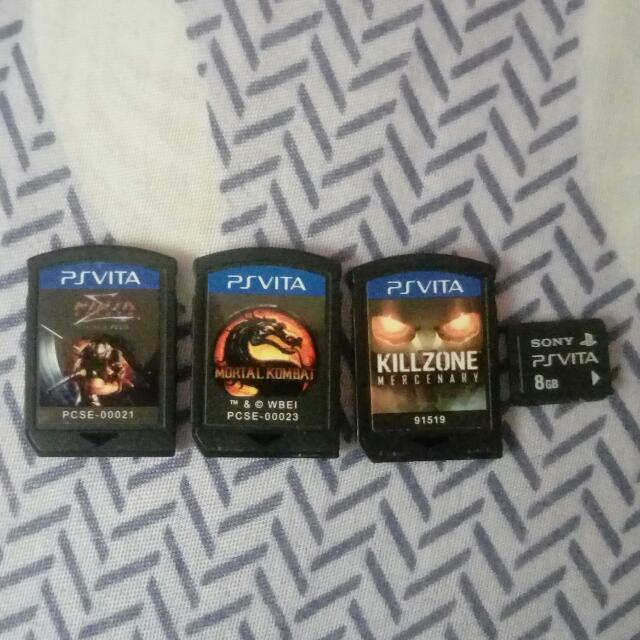 Repriced PS Vita Games and 8GB Memory Card For Sale