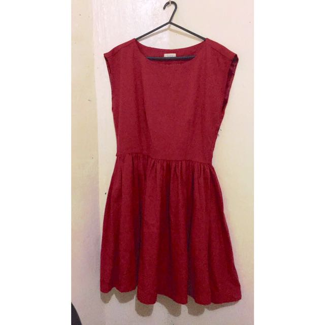 Pull And Bear Red Dress