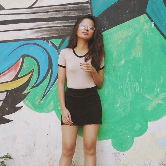 Rugged Black Skirt