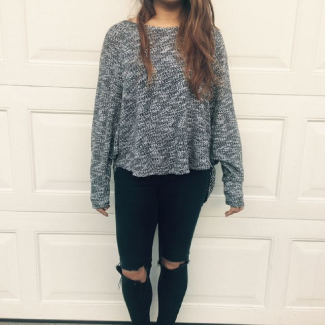 Salt And Pepper Knit Top