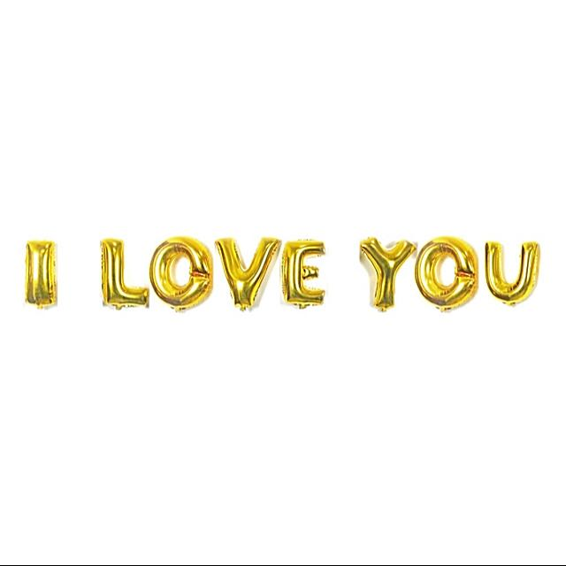 Set Balloons with I love You