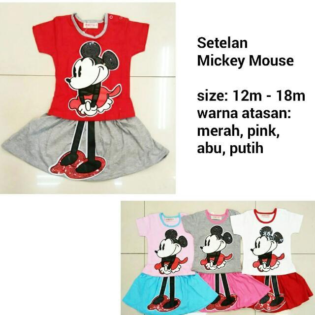 Setelan Mickey Mouse - Baju Anak Lucu Murah, Bahan Kaos Adem