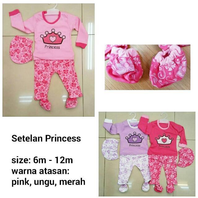 Setelan Princess - Baju Anak Lucu Murah, Bahan Kaos Adem