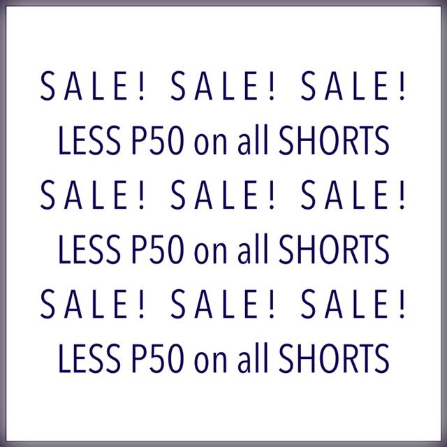 Shorts on Sale! 🙂