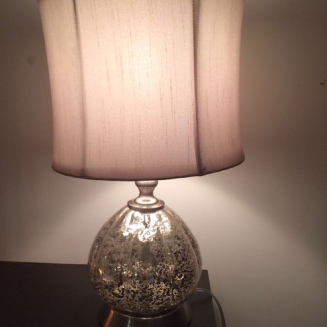 Silver Speckle Lamp