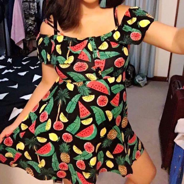 Sportsgirl Cute Fruit Print Dress