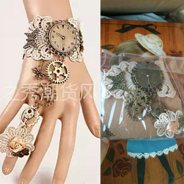 Steampunk Bracelet With Ring