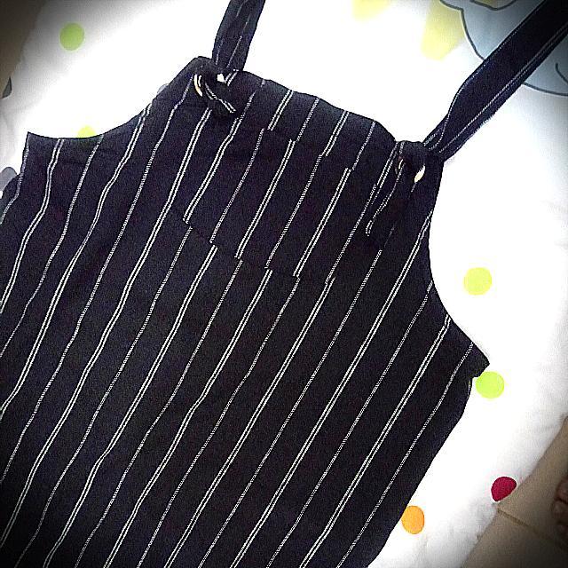 Striped Black Jumper Dress