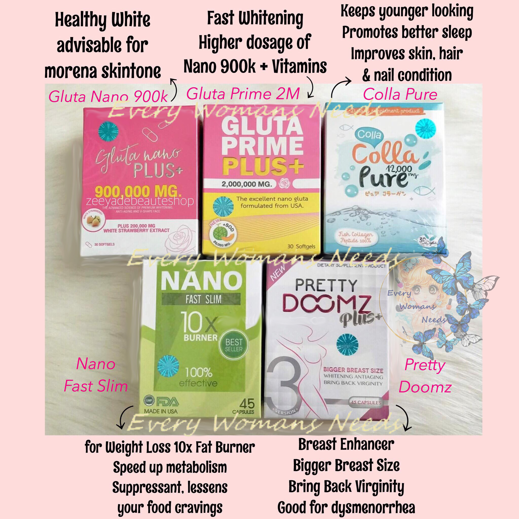 Thailand  and Japan beauty supplements authentic 100% original
