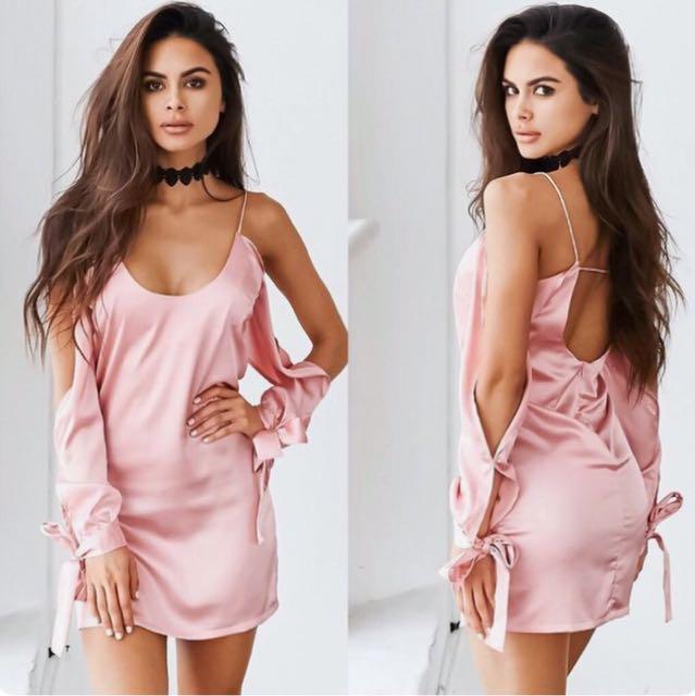 TIGERMIST Need Me Dress in Blush