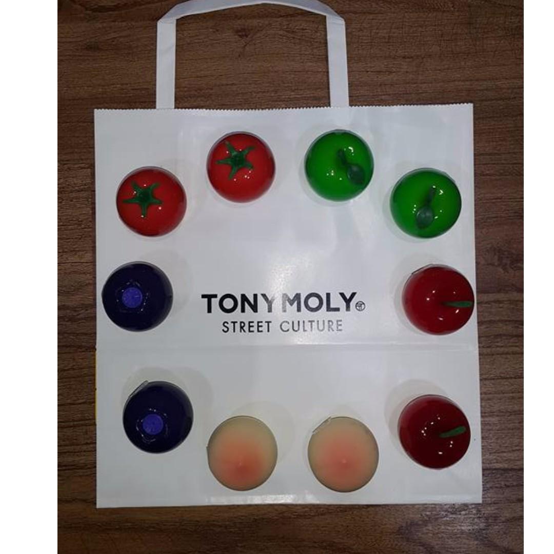 TONY MOLY LIP BALM (APPLE, TOMATO & BERRY FLAVOR)