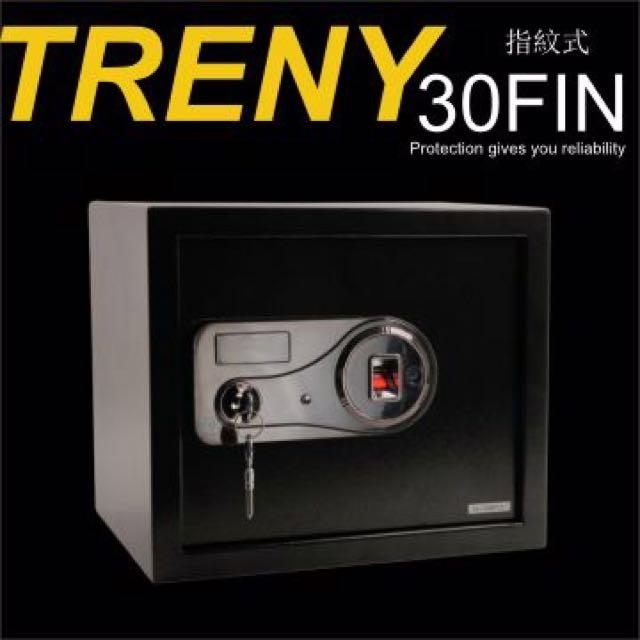TRENY【指紋登入 + 實體鑰匙】 保險箱-中型(最優惠價格‼️)