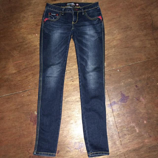 Tribal Skinny Denim Jeans
