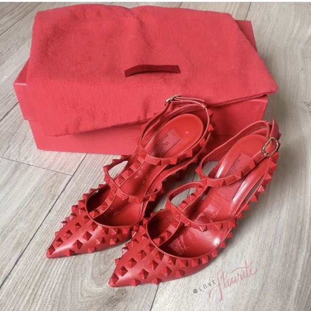 Valentino Rockstuds 100mm Red