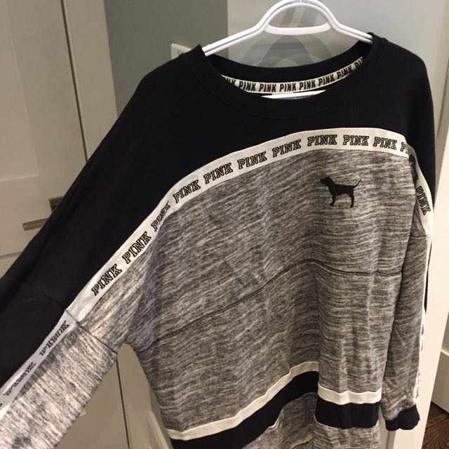 VS Pink, Black And Grey Sweater