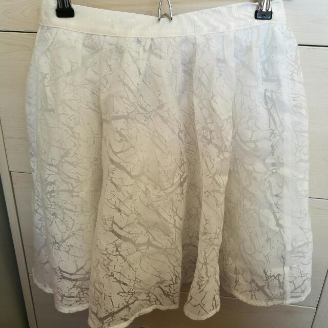 White Taffeta Stolen Girlfriends Club Skirt Size 10