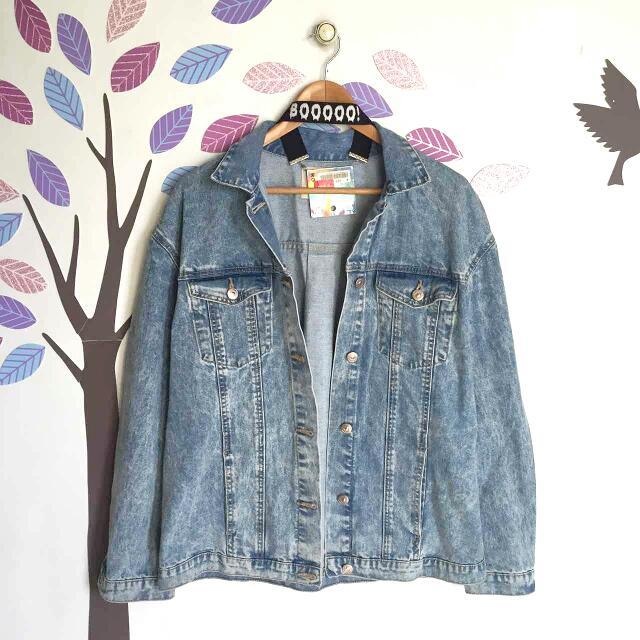 Zara Denim Acid Wash Jacket