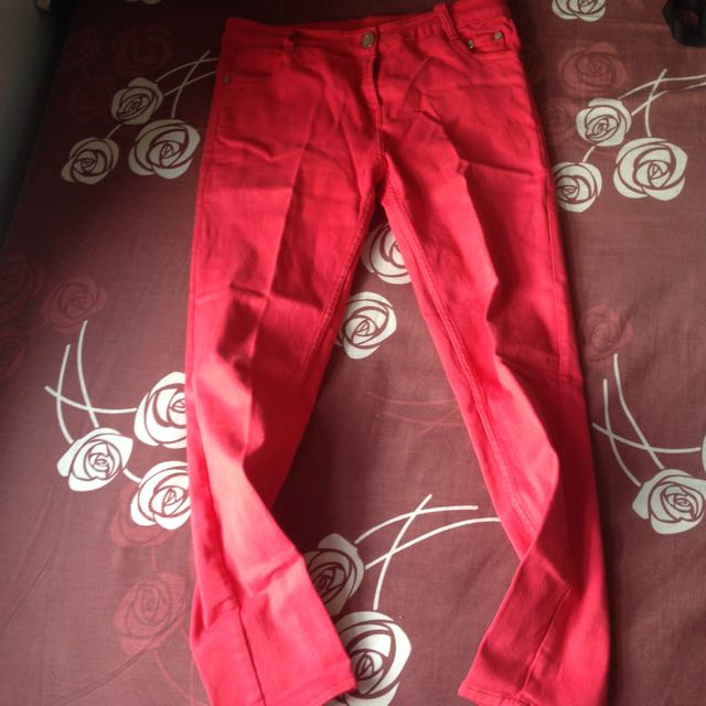 Zara Red Jeans
