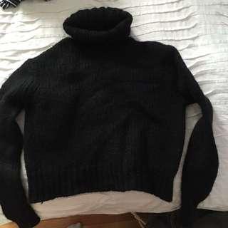 J Crew Black Turtleneck Sweater