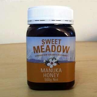 新西蘭天然(麥路卡)蜂蜜 SWEET MEADOW(Manuka Honey), 500g
