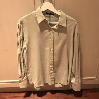 Mint Green Korean Long sleeve shirt Brand New!