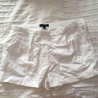 Jcrew Dressy White Shorts