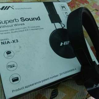 NIA X3 Bluetooth Wireless Headset