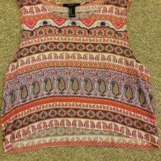 Tribal Forever 21 Flowy Crop Top