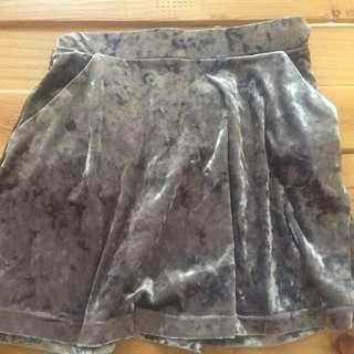 Topshop Velvet Skirt
