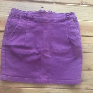 OBEY purple Denim Skirt