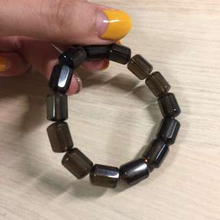超美時尚茶晶-柱型切割設計天然水晶手環