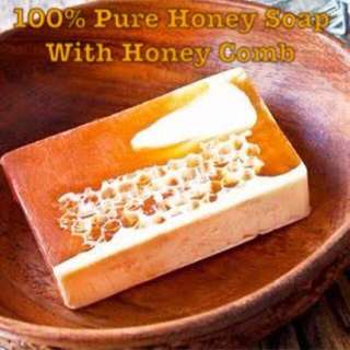 100% PURE HONEY SOAP WITH HONEY COMB INSIDE