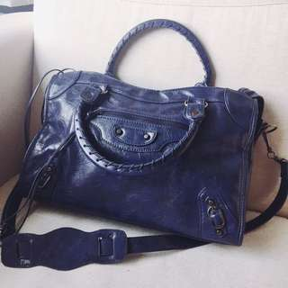Navy Blue Blogger Purse