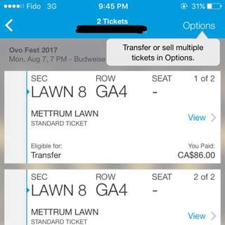 OVO Fest 2017 Lawn Ticket