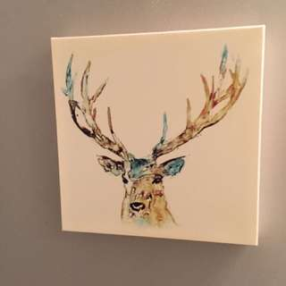 """Deer Painting on Canvas 14"""""""