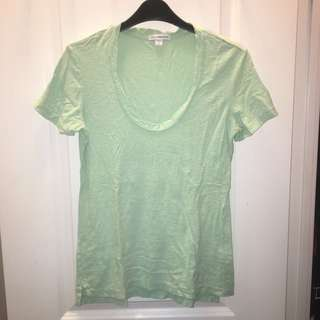 JAMES PERSE Vintage Slub Jersey Scoop Neck Tee Size 2 (Medium)