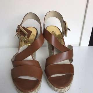 Micaehl Kors Tan Wedge Sandals